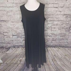 Susan Graver Liquid Knit Sleeveless Dress With Lg
